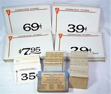 Lot of Federated Stores Pricing Cards - Macys,Lazarus & Shillitos - Movie Decor