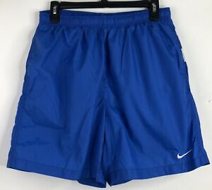 Nike Swim Trunks Boys Size Large L Mesh Lined w/ Pockets Blue Swim Shorts