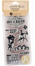 Off To The Horse Races #1, Cling Style Unmounted Stamp Set GRAPHIC 45 New IC0368