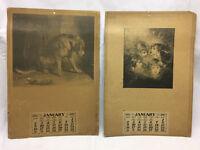 Vintage 1921 Advertising calendar Salesman sample lot Dog Kids