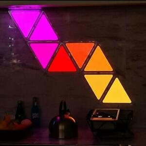 Rhythm Color-Changing Wall Light  9 Light Panels Work With Google Assistant
