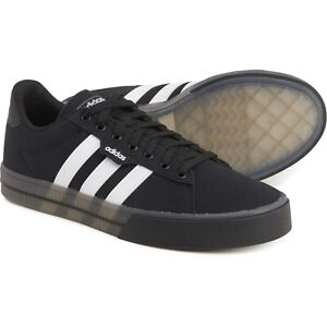 New Men's authentic adidas Daily 3.0 Skateboard Sneakers Black/White FW7050
