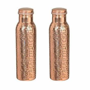 Reines Kupfer Gehämmerte Oberfläche Wasserflasche Für Ayurvedisch Health Vorteil
