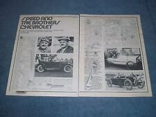 """1975 Chevrolet History Info Article """"Speed & the Brothers Chevrolet"""" Frontenac"""