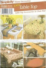 Pattern Simplicity Sewing Decor Table Top Accessories and Chair Pads