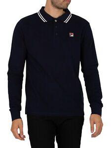 Fila Men's Monte Tipped Collar Longsleeved Polo Shirt, Blue
