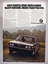 BMW 530i PRINT AD --- 1977