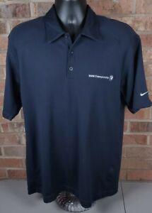 Nike Golf BMW Championship Men's Polo Shirt Blue Size Large