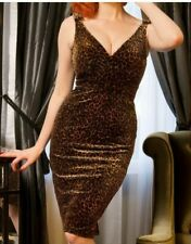 Pinup Girl Clothing - Laura Byrnes Leopard Gilda Dress - Size L