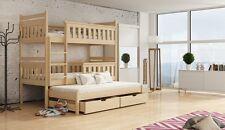 Etagenbett Kinderbett Hochbett KEV II Stockbett mit Matratzen 90x200 ÖKO lackier