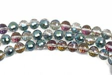 16mm NORTHERN LIGHTS Round Faceted Crystal Glass Beads rainbow 17 beads, bgl1629