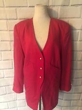Vintage Benard Holtzman Hot Pink Blazer Jacket Sz L or XL? Pearl Button Long Sl