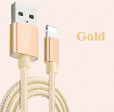 3Mt Long Lead For iPhone 6 Plus Charger Cable USB Data Cord, Braided Gold