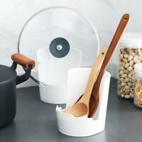 Dreischichtige Schlitze Topfdeckel Löffelständer Rack Küche Kochgeschirr Lagerre