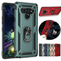 For LG Stylo 6 Hybrid Armor Shockproof Magnetic Ring Stand Hard Case Phone Cover