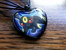 Pokemon Trading Card Umbreon Dark Explorers Charm Pendant Glass Necklace Cosplay