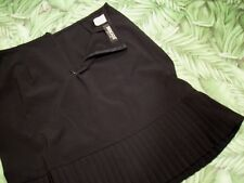 BRIGGS NEW YORK Skirt Black Polyester Rayon Spandex Pleated Women 8