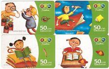 Thaïlande - GSM Prepaid Cards - 4 Cartes Enfants - Usagée/Used