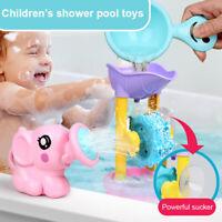1 Satz Kinder Badespielzeug Elefant Form Wasser Spray + Wasser Wasserrad