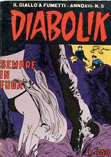 5 1974 Diabolik Italian Comic books