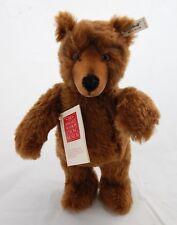 Vtg Steiff Brown Mohair Teddy Bear Brass Button 01281/33 Limited Edition 2000