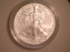 2008 W SILVER AMERICAN EAGLE BURNISHED UNCIRCULATED W/BOX & COA