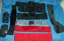 1980s Vintage Retro Belt Lot Stretch Cinch Waist Chunky Buckle Variety