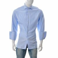 Ermenegildo Zegna BOCK Men Regular Fit SU MISURA Dress Shirt Oxford L.Sleeve Top