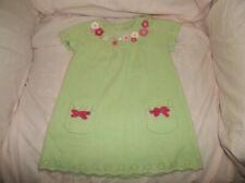 Girls Gymboree Blossom Kitty sweater dress size 18-24 mo--GUC--green, S/S, pocke