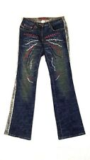 Parasuco Ergonomic Womens Jeans Size 28 Distressed Thick Heavy Denim Fit 27X33