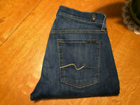 7 SEVEN FOR ALL MANKIND STANDARD STRAIGHT FIT JEANS 32 X 34 NICE!