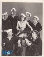 Clara Bow w/a bunch sexy sailors VINTAGE Photo True to the Navy