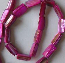 26 Fuchsia shell Perles, 14 mm de long environ, percé pour Artisanat