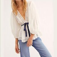 NWT Free People Favorite Romance Tunic Blouse Size Small Peasant