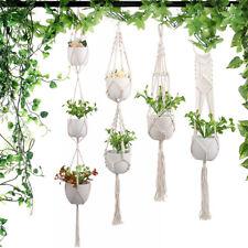 Jardin plante cintre macramé suspendu jardinière panier corde pot fleur titul SH
