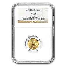 2004 1/10 oz Gold American Eagle MS-69 NGC - SKU #7452