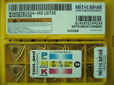 QTY 100x Mitsubishi WNMG431MS WNMG080404-MS US735 NEW