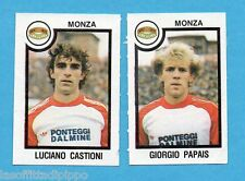 PANINI CALCIATORI 1982/83 -Figurina n.491- CASTIONI+PAPAIS - MONZA -Rec