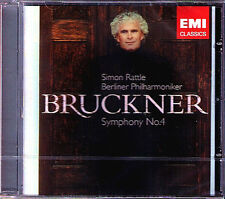 Sir Simon Rattle: Bruckner Symphony 4 ROMANTIC Live CD Filarmonica di Berlino