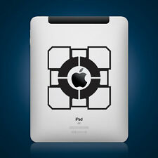 Portal Companion Cube Sticker Die Cut Decan for iPad Tablet Self Adhesive Vinyl