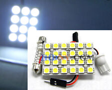 T10 24-SMD 5050 PCB Super Bright LED T10 and Universal Dome Adapter WHITE