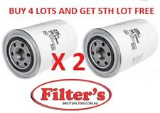 2 X OIL FILTER FOR Mitsubishi Pajero 2.8L TD 1993-2000 WZ372NM Brand new