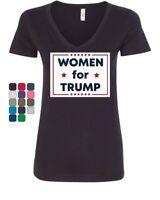 Women for Trump Women's V-Neck T-Shirt Republican Girl GOP Conservative Lady