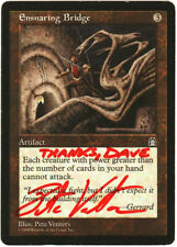 mtg magic ENSNARING BRIDGE stronghold ARTIST SIGNED LP (3 available)