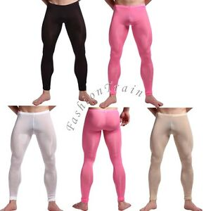 Sexy Men Gym Compression Fitness Tights Base Under Layer Workout Trousers Pants