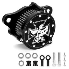 Skull Motorcycle Air Cleaner Intake Filter For Harley Softail Electra Glide Dyna