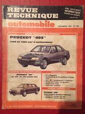 Revue Technique Automobile PEUGEOT 405 1580 et 1905 cm3 à Carburateur