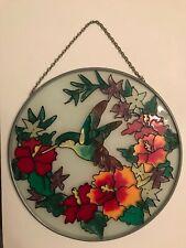 Joan Baker Designs Stained Glass Hummingbird Suncatcher