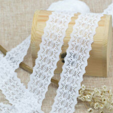 5Yards White Elastic Lace Trim Beautiful Sewing Fabric DIY Crafts Supplies