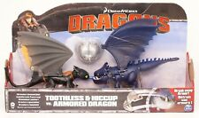 Dragons Toothless & Hiccup vs. Armored Dragon Drachen Ohnezahn Spielset NEU